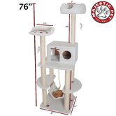 76&quot; Bungalow Sherpa Cat Tree