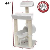 "44"" Bungalow Sherpa Cat Tree"