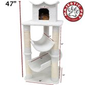 "47"" Bungalow Sherpa Cat Tree"