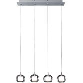 Nucleus 4 Light Linear Pendant