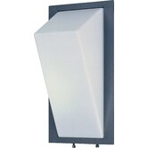 Zenith Outdoor Wall Sconce with White Acrylic Glass