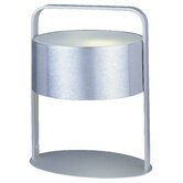 Percussion Table Lamp in Brushed Aluminum