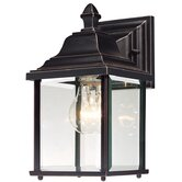 "Charleston 10.5"" H Outdoor Wall Lantern in Antique Bronze"