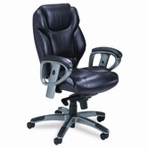300 Series Mid-Back Leather Swivel / Tilt Office Chair with Arms