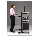 Soho Fully Adjustable Mobile Computer Table, 32W X 31D X 50H