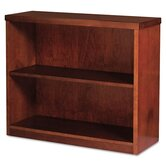 Mira Series Wood Veneer 2-Shelf Bookcase