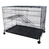 2 Level Pet Cage in Black