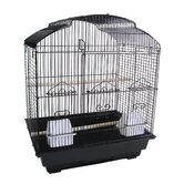 3/8&quot; Bar Spacing Shell Top Small Bird Cage