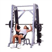 High Impact Commercial Angled Smith Machine with Plate Storage