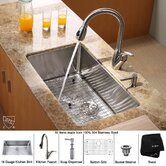 "Undermount 30"" Kitchen Sink with Faucet and Soap Dispenser"