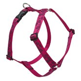 "Plum Blossom 1"" Adjustable Large Dog Roman Harness"