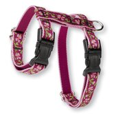 "Cherry Blossom 1/2"" Adjustable H-Style Cat Harness"