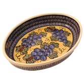 12&quot; Oval Baking Pan - Pattern DU8