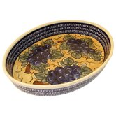 14&quot; Oval Baking Pan - Pattern DU8