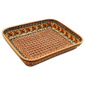 10&quot;  Rectangular Baking Pan - Pattern DU70