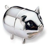 Silverplated Baby Piggy Coin Bank