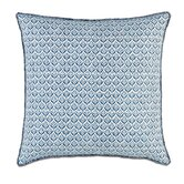 Ceylon Polyester Kari Iris Decorative Pillow with Brush Fringe