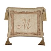 Rosemonde Hand-Painted Monogram Pillow