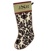 Holiday Monogram Avignon Stocking