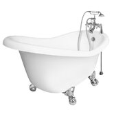 Marilyn AcraStone Slipper Left Champagne Massage Bath Tub Faucet Package 1
