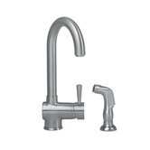 Deco Single Handle Single Hole Bar Prep Sink Faucet with Side Spray