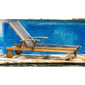 Teak Riviera Lounger