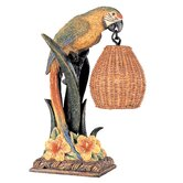 Kathy Ireland Gallery Parrot Paradise Table Lantern in Multicolor