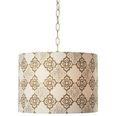 PCL Granada 1 Light Swag Drum Pendant