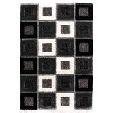 Signature Square Black Shag Rug