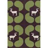 Avalisa Green Deer Novelty Rug