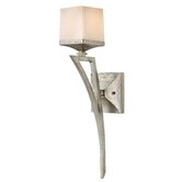 San Simeon Wall Sconce in Silver Leaf