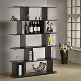 Fuzion Bookcase/Display Stand in Black