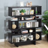 Celio Three-Tier Bookcase / Display Cabinet in Black