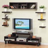 Somer Hanging Shelves and Cabinet in Red Cocoa