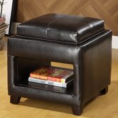 Elyn Leatherette Cube Ottoman