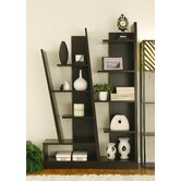 Lotta Modern Bookcase / Display Cabinet in Red Cocoa Brown