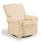 Square Back Upholstered Reclining Glider