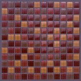 "Glass Mosaic 12"" Tile Accent in Red"