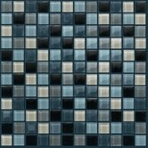 "Glass Mosaic 12"" Tile Accent in Grey"