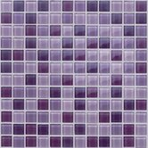 "Glass Mosaic 12"" Tile Accent in Rose"