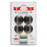 4 Piece Electric Range Replacement Knob Set in Black