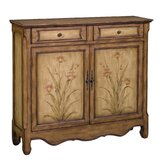 Ava Aged Cream Floral Cupboard