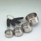 Professional Stainless Steel Four Piece Measuring Cup Set