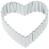 Cookie Cutter in Medium Fluted Heart (Set of 12)