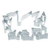 Six Cookie Cutters in Welsh Dragon Shape