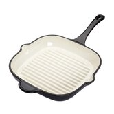 Molten Cast Iron Square Grill Pan in Black