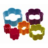 Colourworks Set of Six Pieces Flower Shaped Cookie Cutters with Storage Box