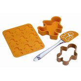 Let's Make Four Pieces Gingerbread Baking Set