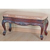 Carved Wood Furniture Vanity Bench