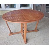 "Royal Tahiti Outdoor 51"" Wooden Gate Leg Patio Table"